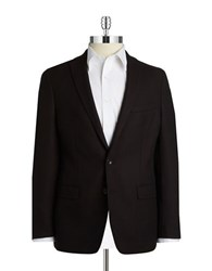 Dkny Textured Two Button Blazer Black Wine