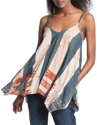 Plenty By Tracy Reese Scarf Hem Tank Beige Multi