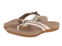 Aetrex Selena Thong Sandal Cream Women's Toe Open Shoes Beige