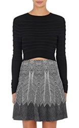 Opening Ceremony Women's Knit Crop Shirt Black