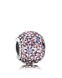 Pandora Design Pandora Charm Sterling Silver And Cubic Zirconia Pave Lights Moments Collection Silver Pink Purple