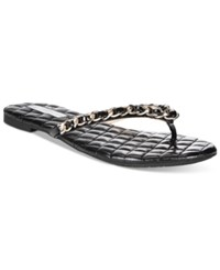 Inc International Concepts Women's Maceo Chain Thong Sandals Only At Macy's Women's Shoes Black