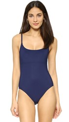 Karla Colletto Skinny Scoop Swimsuit Navy