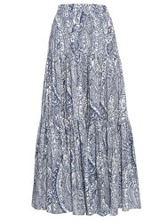 La Doublej Editions The Bandana Print Big Skirt Blue White
