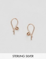 Asos Rose Gold Plated Sterling Silver Ball Through Earrings Rose Gold Plated Copper