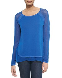Elie Tahari Tipper Sweater W Mesh Sleeves Kismet