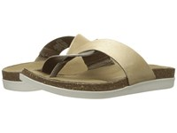 Rockport Total Motion Romilly Curvy Thong Medium Grey Smooth Gold Pearl Women's Sandals Beige