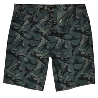 River Island Mens Green Camo Slim Fit Shorts