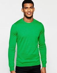 United Colors Of Benetton 100 Cotton Knitted Crew Neck Jumper Green
