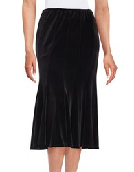 Marina Velvet Pleated Skirt Black
