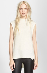 Milly 'Cloud' Cashmere Sleeveless Pullover White