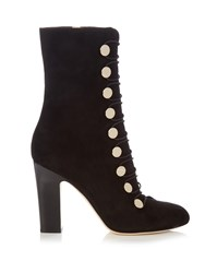 Jimmy Choo Malta 100Mm Suede Ankle Boots Black