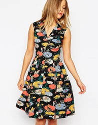 Emily And Fin Emily And Fin Jessica Printed Shirt Dress 895Black