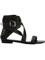 Barbara Bui Laser Cut Sandals Black