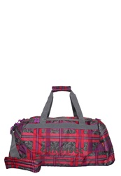 Chiemsee Sports Bag Check Barberry Purple