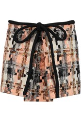 See By Chloe Tweed Mini Skirt Black