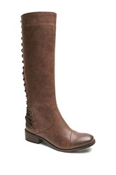 Two Lips Too Lacey Tall Boot Brown