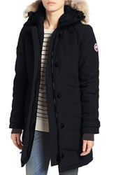 Canada Goose Women's 'Lorette' Hooded Down Parka With Genuine Coyote Fur Trim Navy