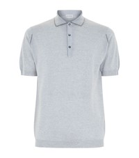 John Smedley Merino Wool Polo Top Male Grey