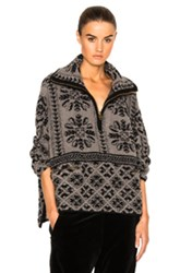Chloe Mini Fur Stitch Jacquard Sweater In Gray Abstract Gray Abstract