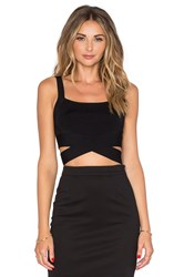 Alexander Wang Criss Cross Tank Black