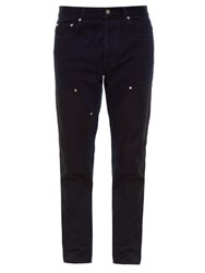 Givenchy Stud Embellished Cuban Fit Jeans Navy