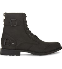 Aldo Arenawen Leather Boots Black Leather