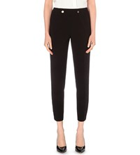 Ted Baker Leotat Skinny Stretch Crepe Trousers Black