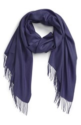 Women's Nordstrom Tissue Weight Wool And Cashmere Scarf Blue Navy Evening