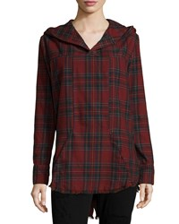 Rta Parker Long Sleeve Plaid Hoodie Class Act Size Xs