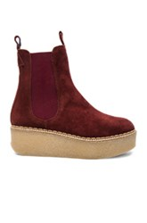 Flamingos Suede Deltona Boots In Red