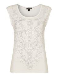 Episode Embellished Top Ivory