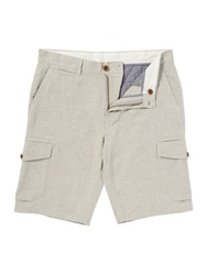 Linea Standard Cotton Linen Cargo Pocket Short Ecru
