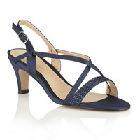 Lotus Hallmark Miren Open Toe Sandals Navy