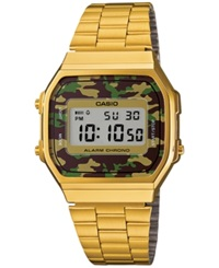 Casio Men's Digital Gold Tone Stainless Steel Bracelet Watch 39X36mm A168wegc 3Mt