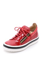 Giuseppe Zanotti Patent Leather Sneakers Red