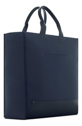 Troubadour Men's Nylon And Leather Tote Bag Blue Navy Canvas Navy Leather