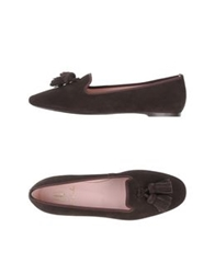 Pretty Loafers Moccasins Dark Brown