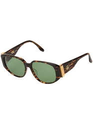 Moschino Vintage Cat Eye Sunglasses Brown