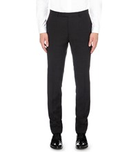 Sandro Slim Fit Tapered Wool Trousers Dark Grey
