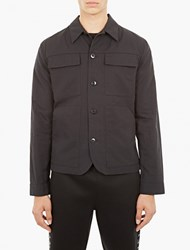 Helmut Lang Black Cotton Utility Jacket