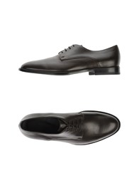 Armani Collezioni Footwear Lace Up Shoes Men Dark Brown