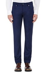 Marco Pescarolo Suiting Wool Flannel Jeans Blue