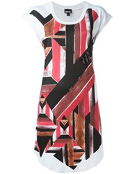 Just Cavalli Geometric Print T Shirt White