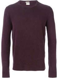 Massimo Alba Crew Neck Sweater Red