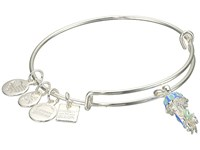 Alex And Ani Charity By Design Jelly Fish Bangle Shiny Silver Bracelet Metallic