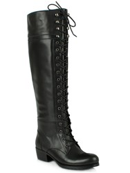 Daniel Priceless Lace Up Front Knee High Boots Black