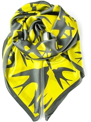 Mcq By Alexander Mcqueen Printed Scarf Yellow And Orange