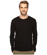 Kenneth Cole Honeycomb Henley Balck Men's Clothing Black