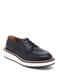 Givenchy Rottweiler Chain Embellished Leather Derby Shoes Black